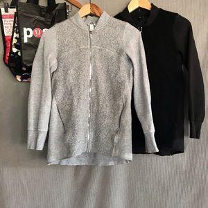 5pc LULULEMON bundle! 2 sweater jackets +3 bags